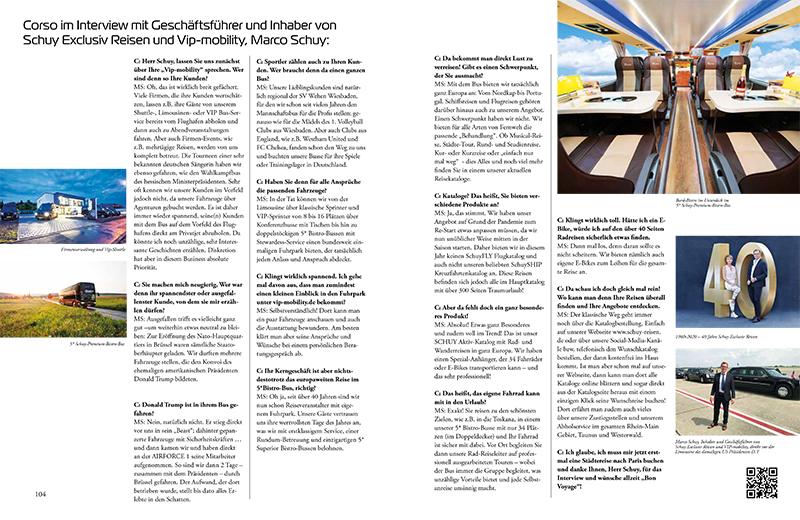 Schuy Exclusiv Reisen_Corso Magazin
