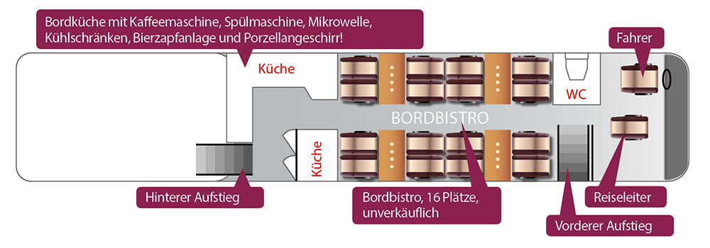 Schuy Exclusiv Reisen_Bistro-Bus_5 Bistro Bus van Hool_Unterdeck